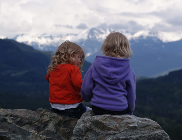 Partners-in-Paediatrics-Girls-looking-mountains